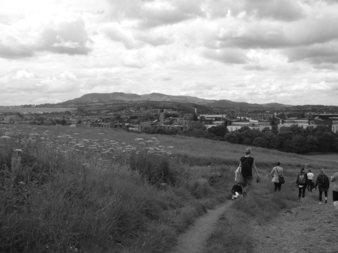 walking down arthurs seat copy